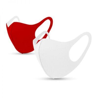 Tili Fashion Face Mask Ενηλίκων Κόκκινη & Λευκή 2τμχ