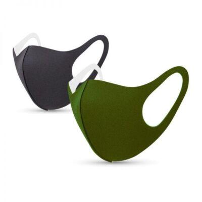 Tili Fashion Face Mask Ενηλίκων Χακί & Μαύρη 2τμχ